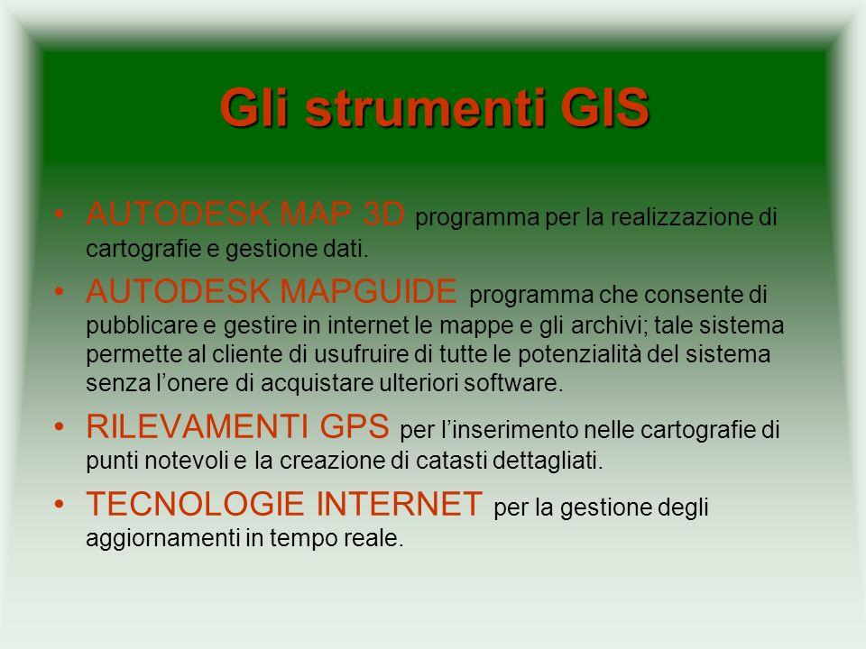 Gli strumenti GISAUTODESK MAP 3D programma per la realizzazione di cartografie e gestione dati.