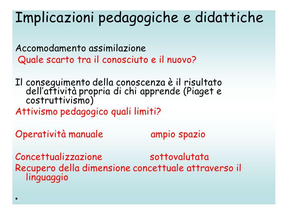 Implicazioni pedagogiche e didattiche