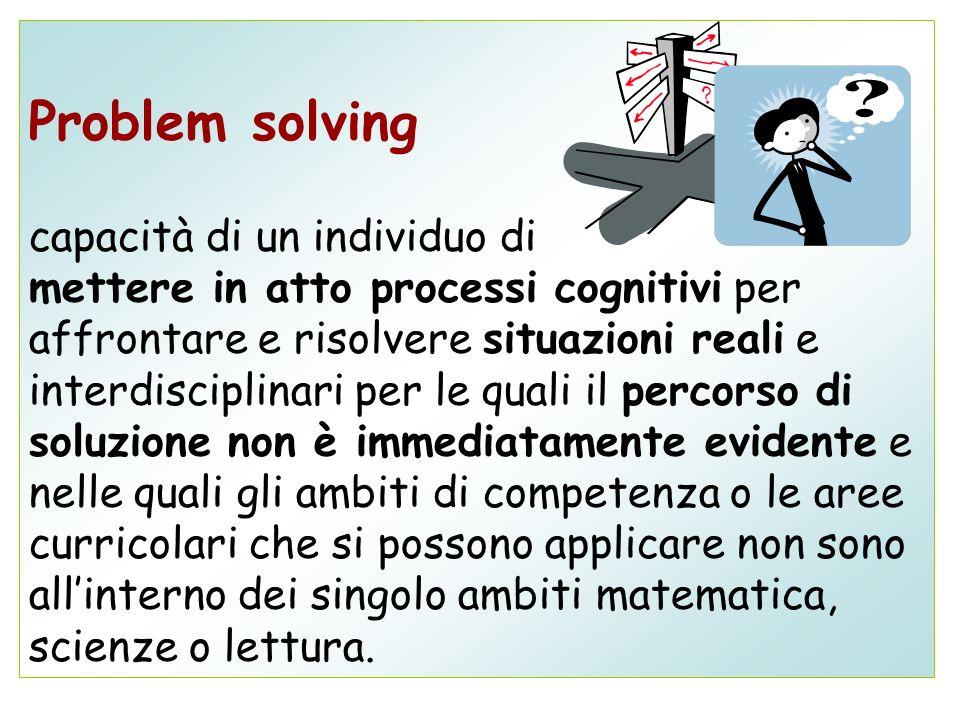 Problem solving capacità di un individuo di