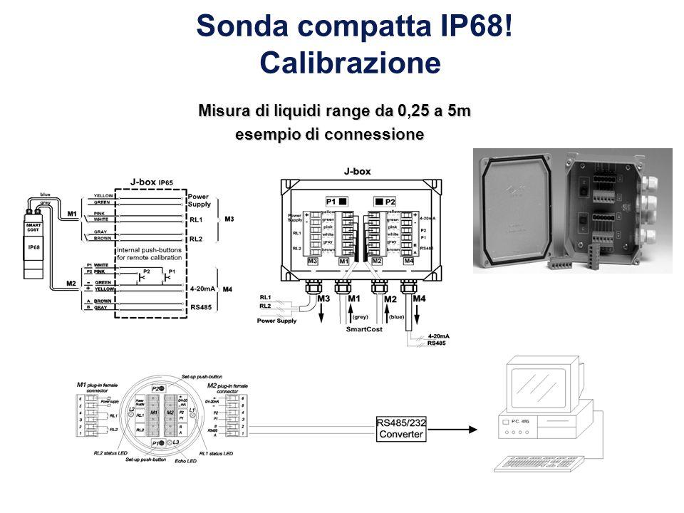 Sonda compatta IP68! Calibrazione