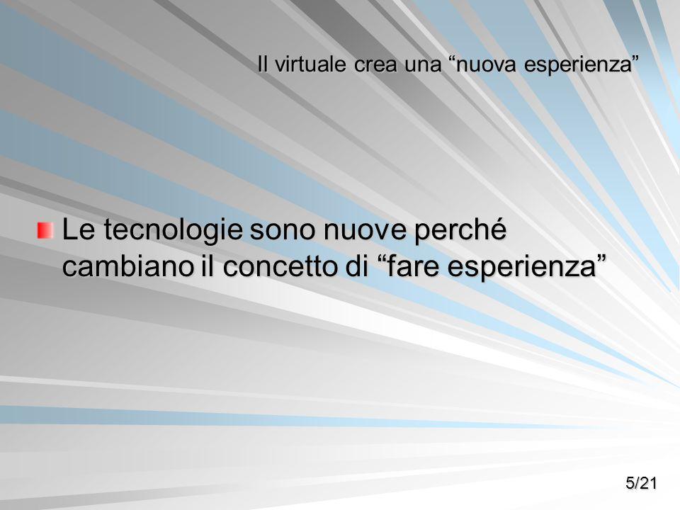 Il virtuale crea una nuova esperienza