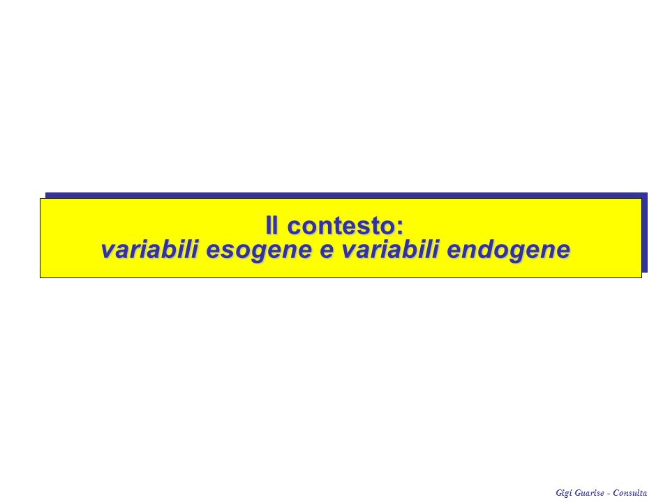 variabili esogene e variabili endogene