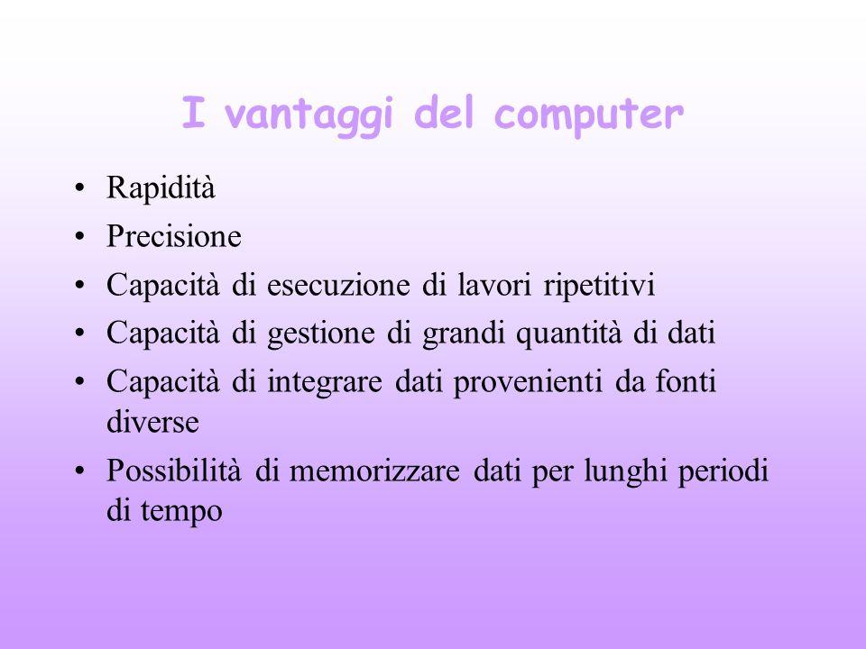 I vantaggi del computer