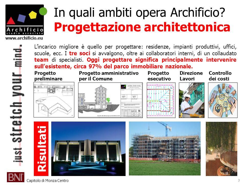 In quali ambiti opera Archificio Progettazione architettonica