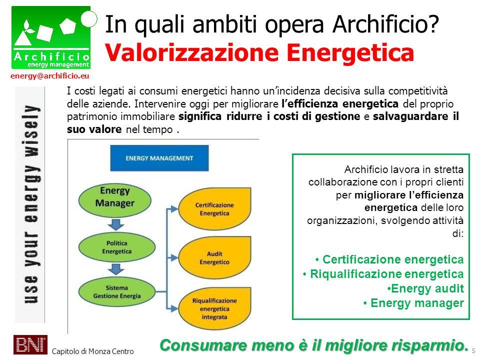 In quali ambiti opera Archificio Valorizzazione Energetica