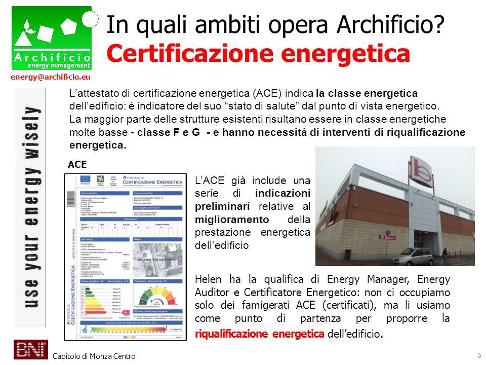 In quali ambiti opera Archificio Certificazione energetica