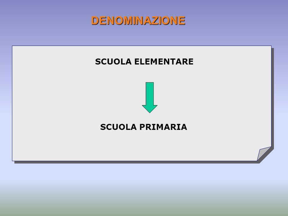 DENOMINAZIONE SCUOLA ELEMENTARE SCUOLA PRIMARIA