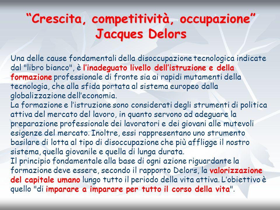 Crescita, competitività, occupazione Jacques Delors