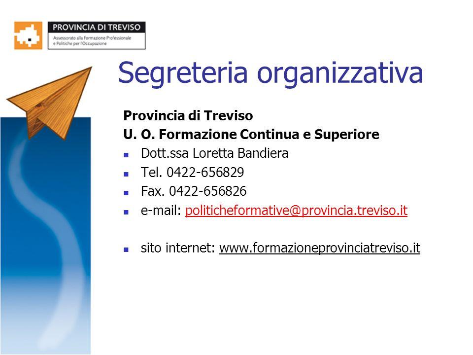 Segreteria organizzativa