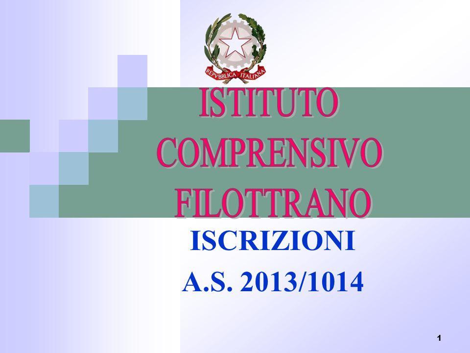 ISTITUTO COMPRENSICO FILOTTRANO ISCRIZIONI A.S. 2013/1014