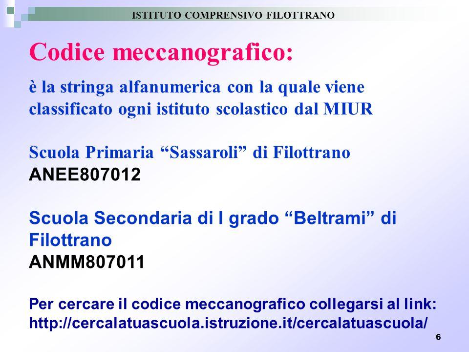 Codice meccanografico: