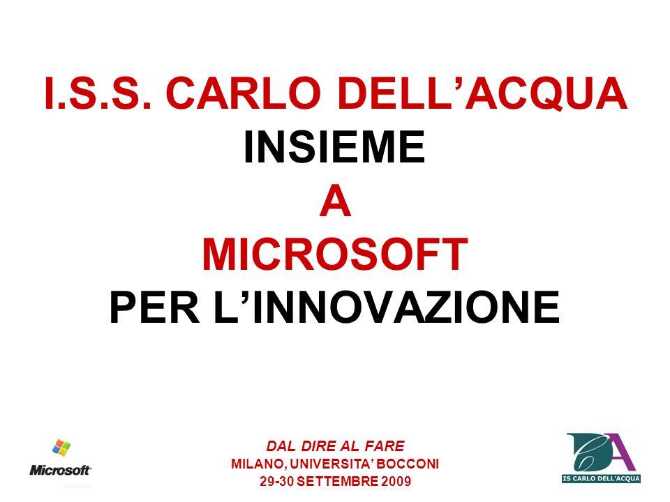 I.S.S. CARLO DELL'ACQUA INSIEME A MICROSOFT PER L'INNOVAZIONE