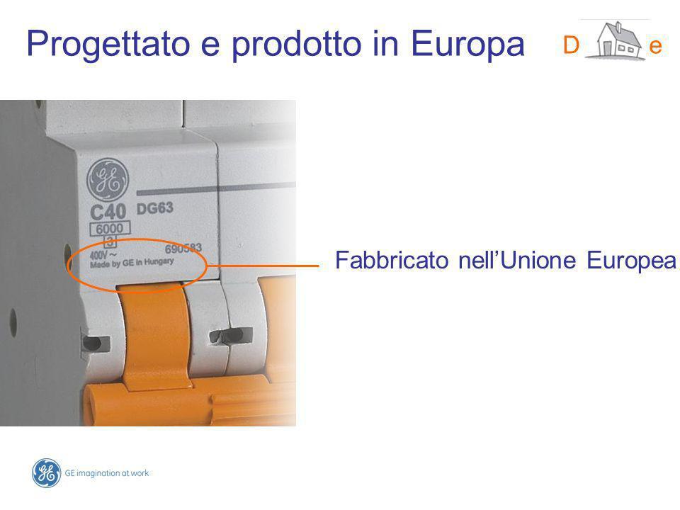Progettato e prodotto in Europa