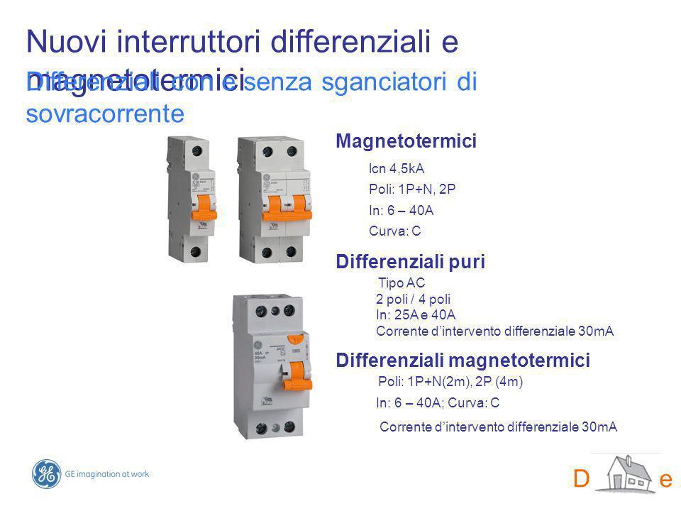 Nuovi interruttori differenziali e magnetotermici