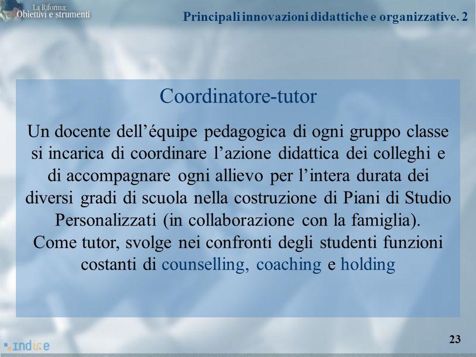 Principali innovazioni didattiche e organizzative. 2