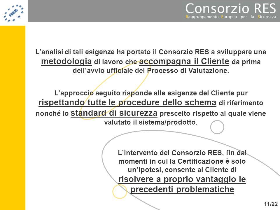 L'analisi di tali esigenze ha portato il Consorzio RES a sviluppare una metodologia di lavoro che accompagna il Cliente da prima dell'avvio ufficiale del Processo di Valutazione.