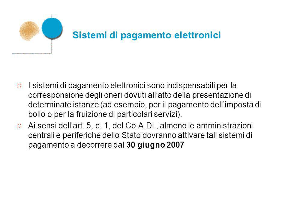 Sistemi di pagamento elettronici