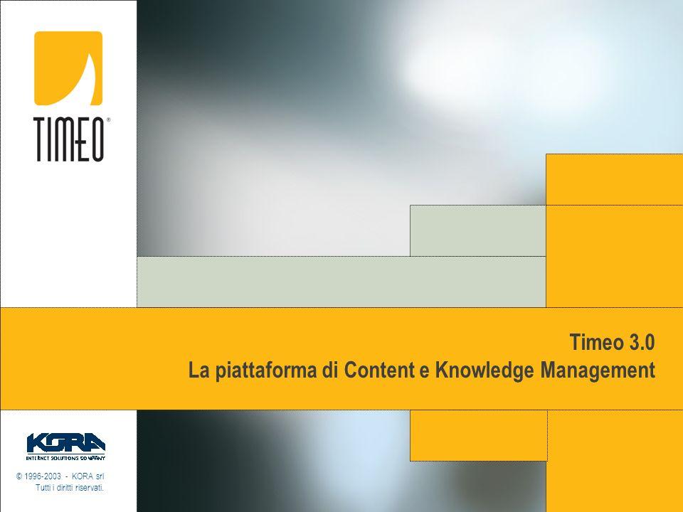 Timeo 3.0 La piattaforma di Content e Knowledge Management