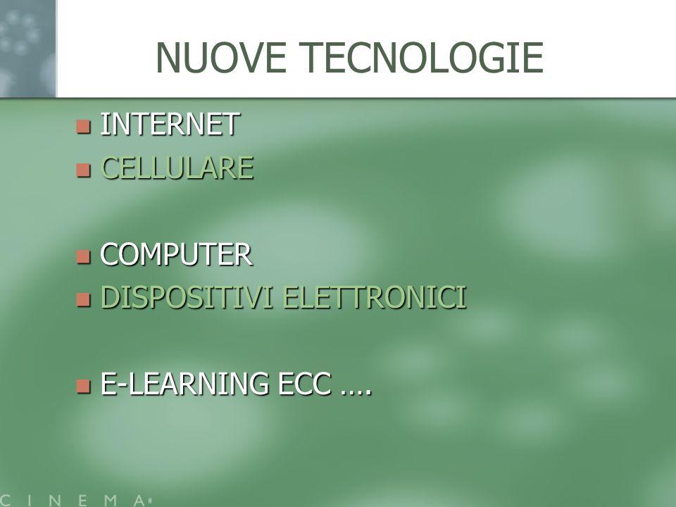 NUOVE TECNOLOGIE INTERNET CELLULARE COMPUTER DISPOSITIVI ELETTRONICI