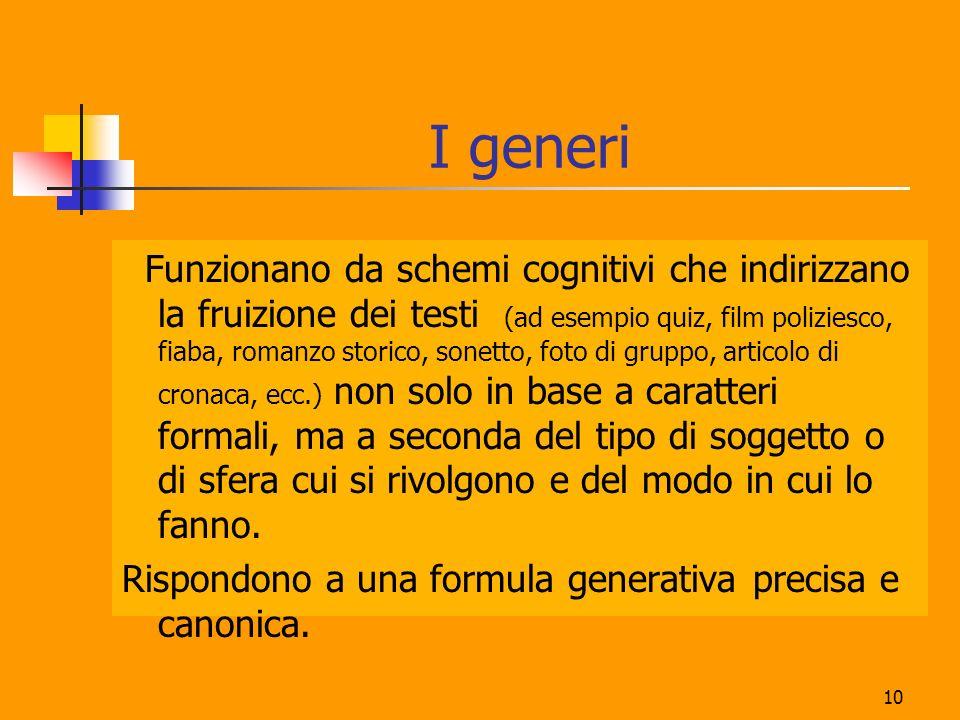 I generi