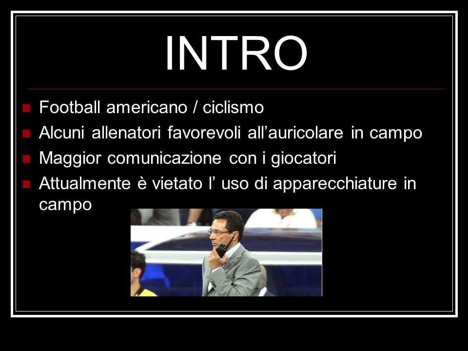 INTRO Football americano / ciclismo