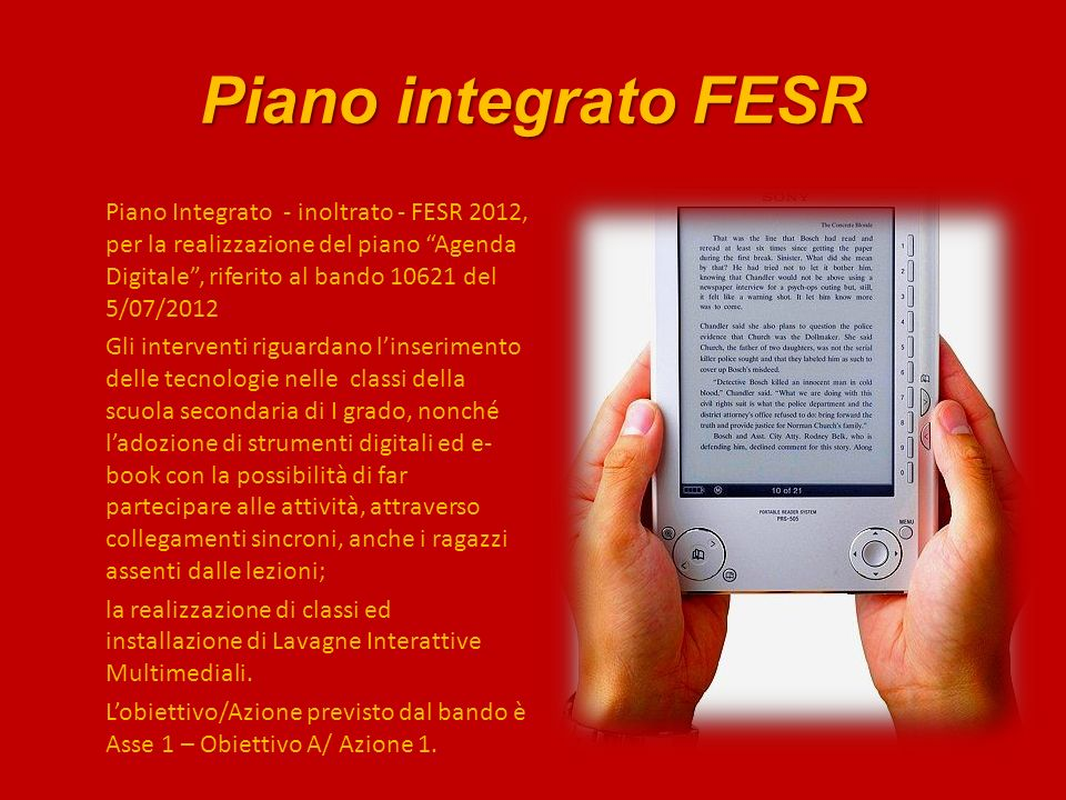 Piano integrato FESR