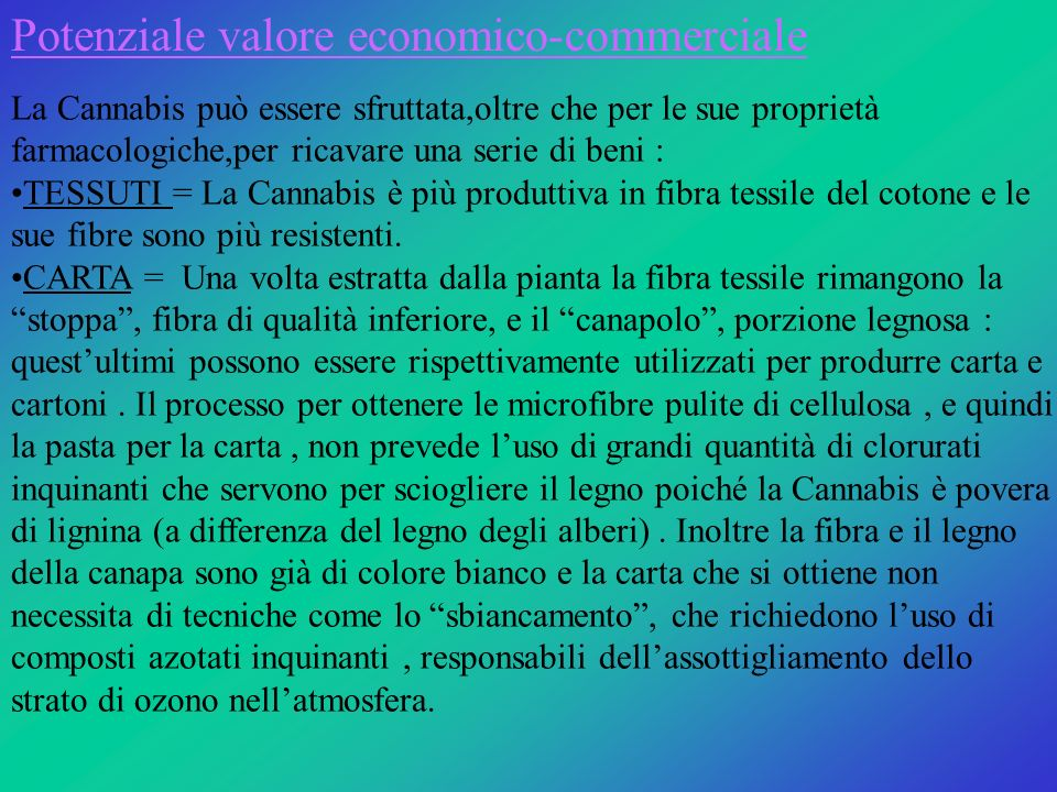 Potenziale valore economico-commerciale