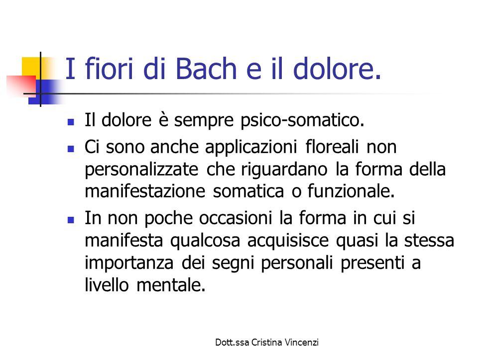 I fiori di Bach e il dolore.