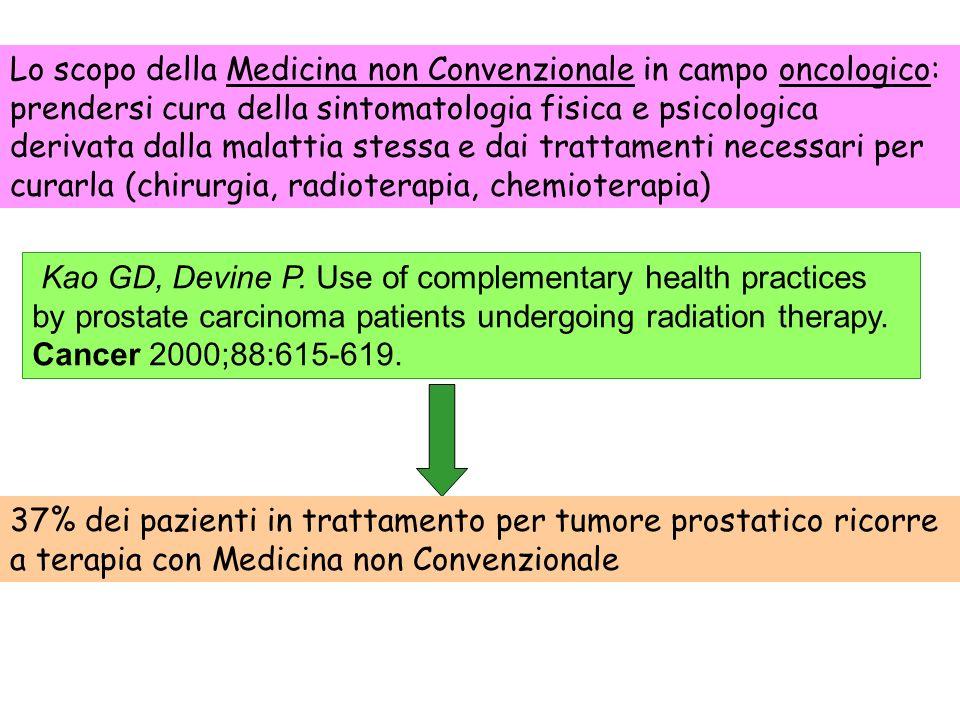 Lo scopo della Medicina non Convenzionale in campo oncologico: