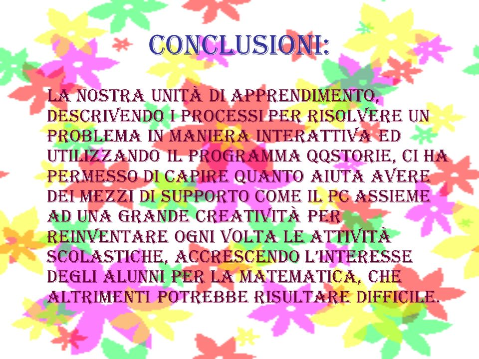 CONCLUSIONI: