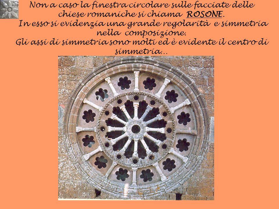 Non a caso la finestra circolare sulle facciate delle chiese romaniche si chiama ROSONE.