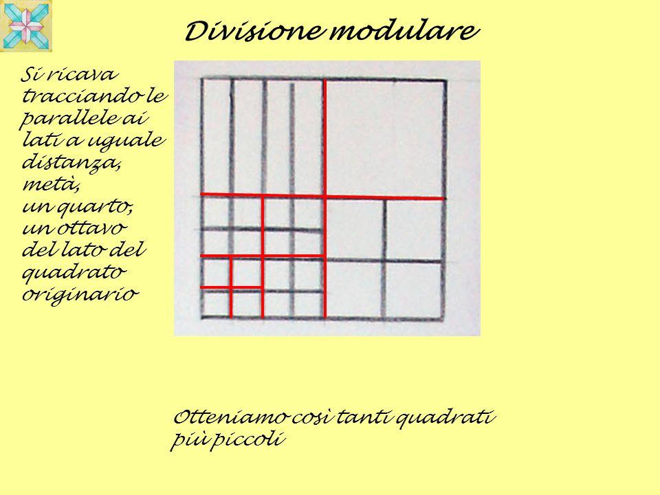 Divisione modulare Si ricava tracciando le parallele ai lati a uguale