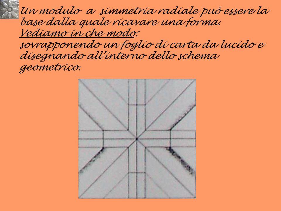 Un modulo a simmetria radiale può essere la base dalla quale ricavare una forma.