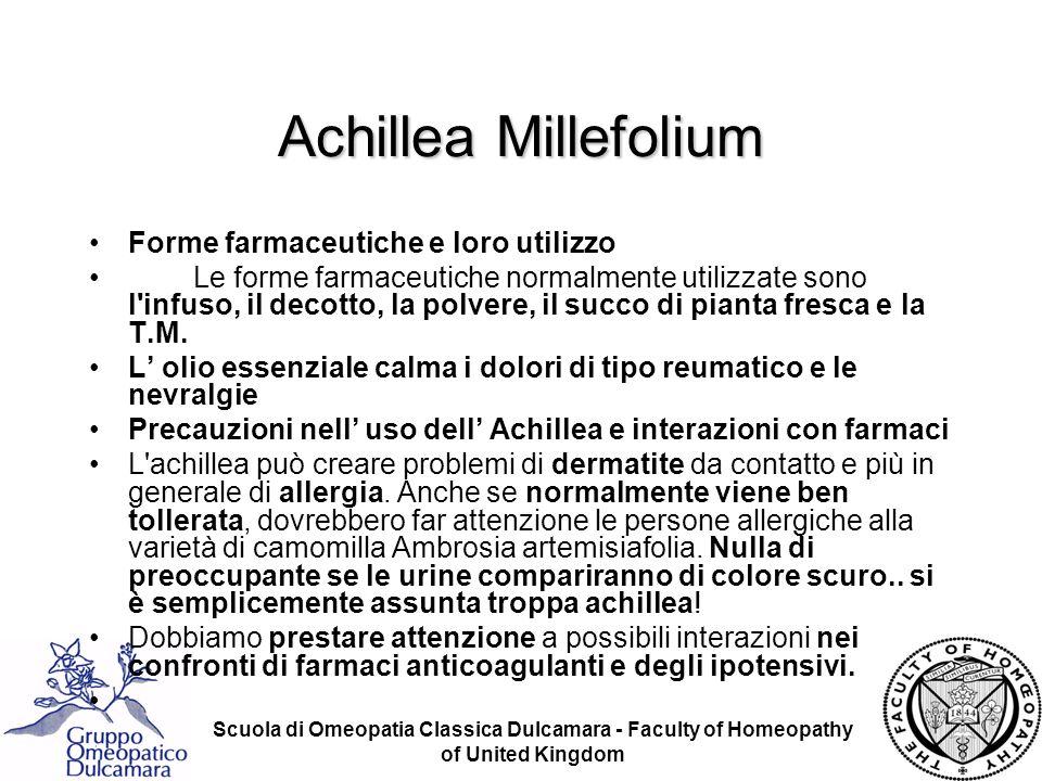 Achillea Millefolium Forme farmaceutiche e loro utilizzo