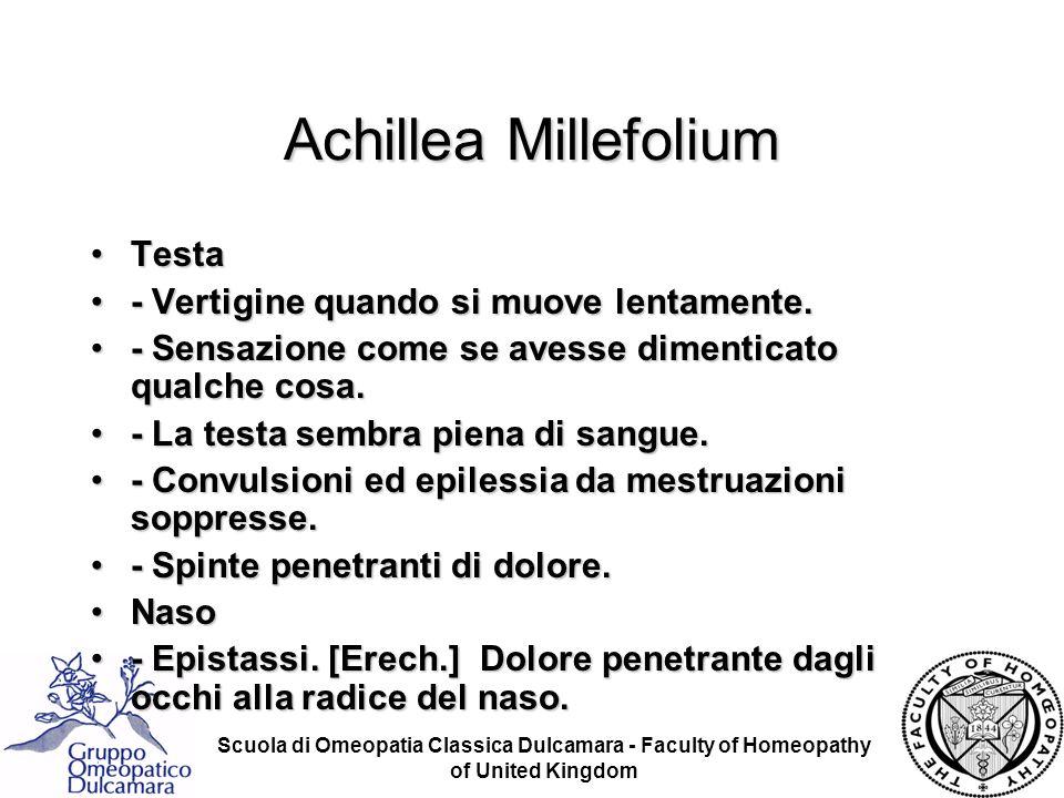 Achillea Millefolium Testa - Vertigine quando si muove lentamente.