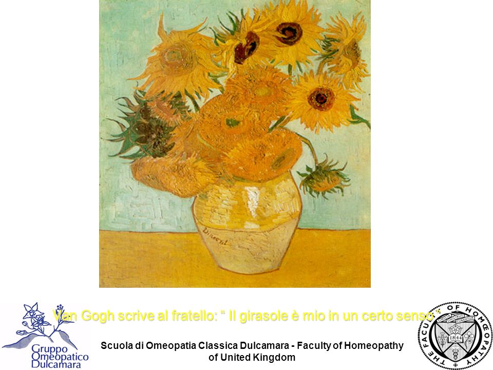 Van Gogh scrive al fratello: Il girasole è mio in un certo senso
