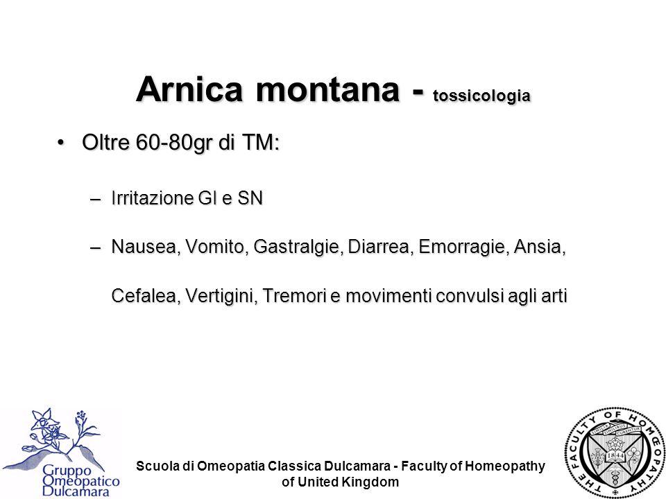 Arnica montana - tossicologia