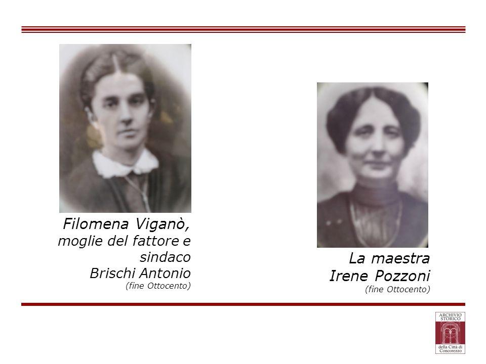 Filomena Viganò, moglie del fattore e sindaco