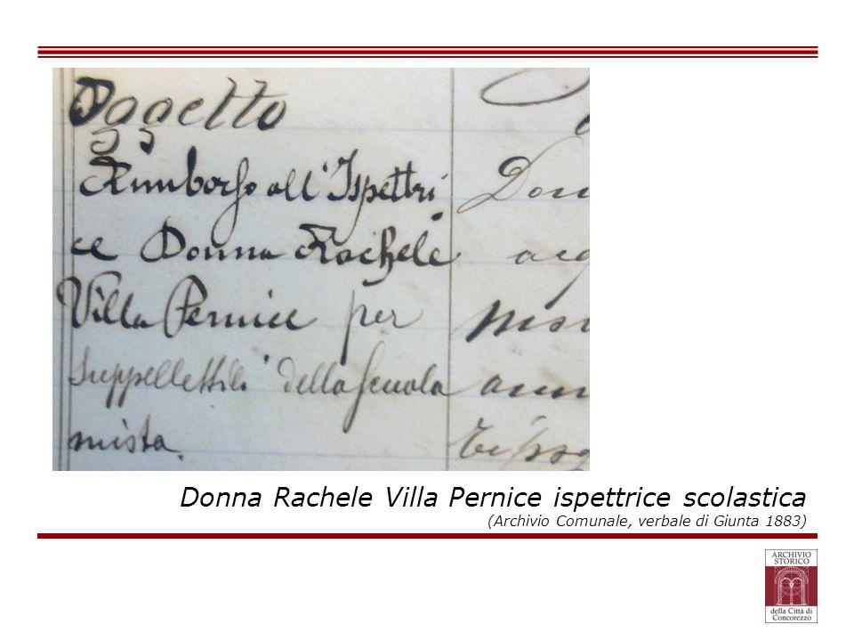 Donna Rachele Villa Pernice ispettrice scolastica