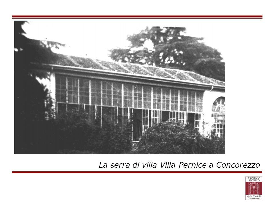 La serra di villa Villa Pernice a Concorezzo