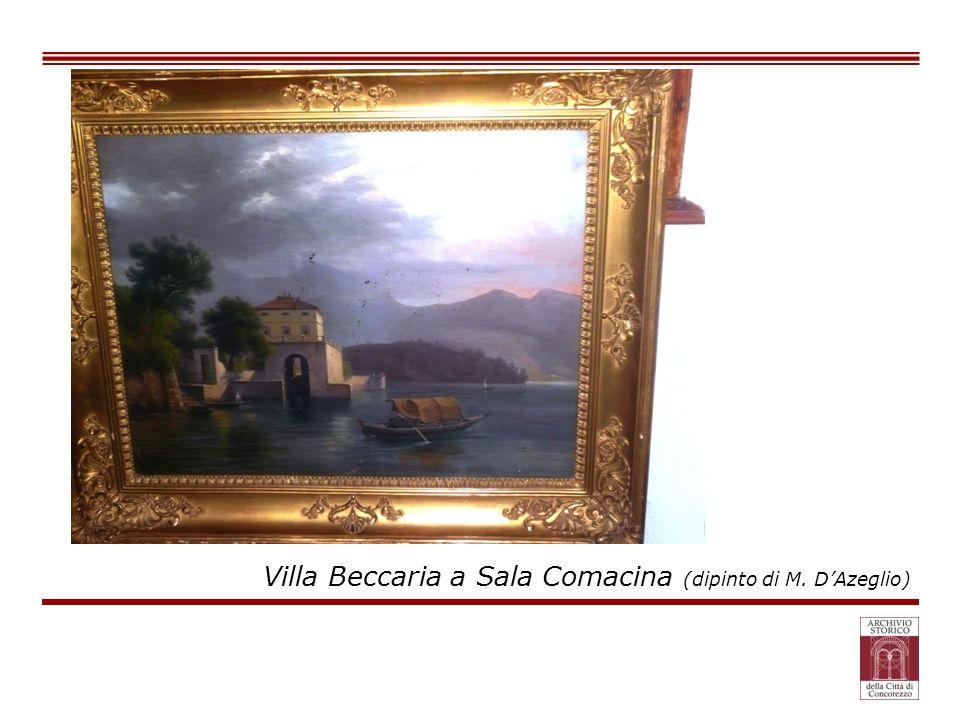 Villa Beccaria a Sala Comacina (dipinto di M. D'Azeglio)