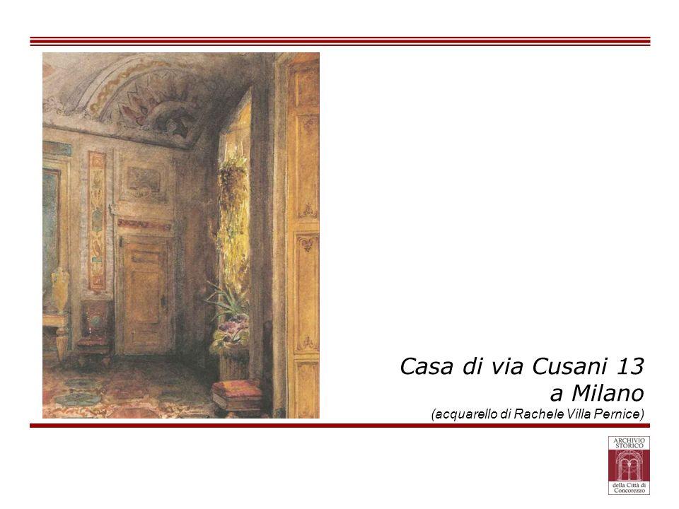 Casa di via Cusani 13 a Milano (acquarello di Rachele Villa Pernice)