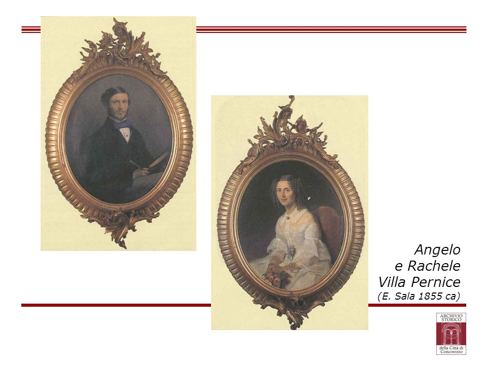 Angelo e Rachele Villa Pernice (E. Sala 1855 ca)