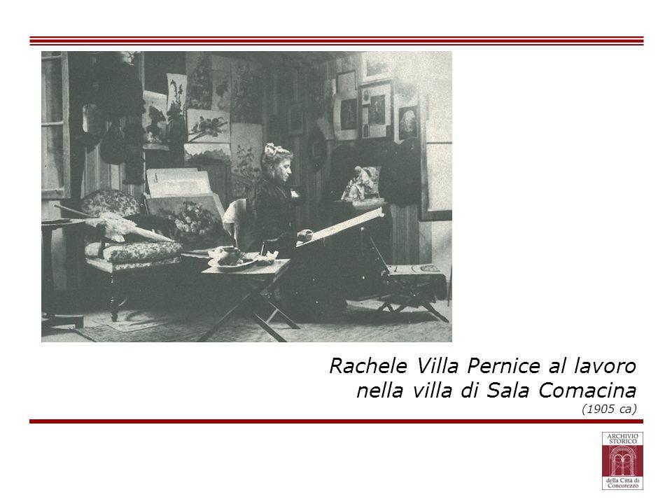 Rachele Villa Pernice al lavoro nella villa di Sala Comacina