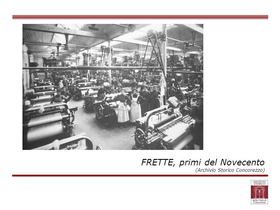 FRETTE, primi del Novecento