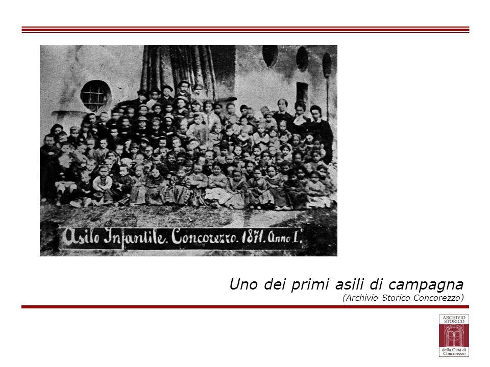Uno dei primi asili di campagna