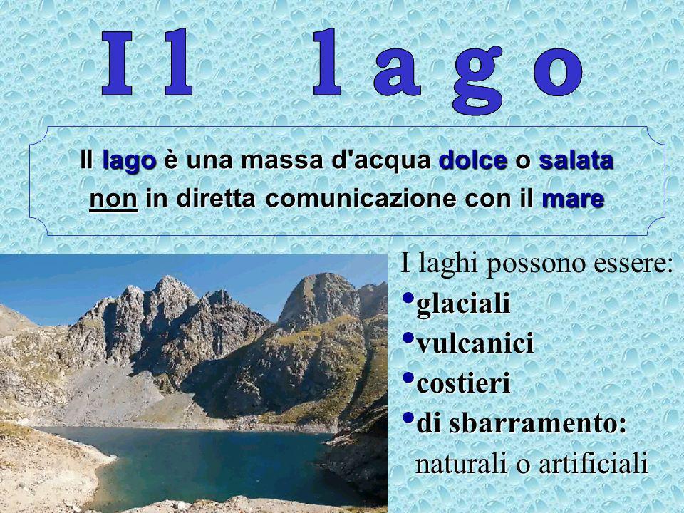 I l l a g o I l l a g o I l l a g o I laghi possono essere: glaciali