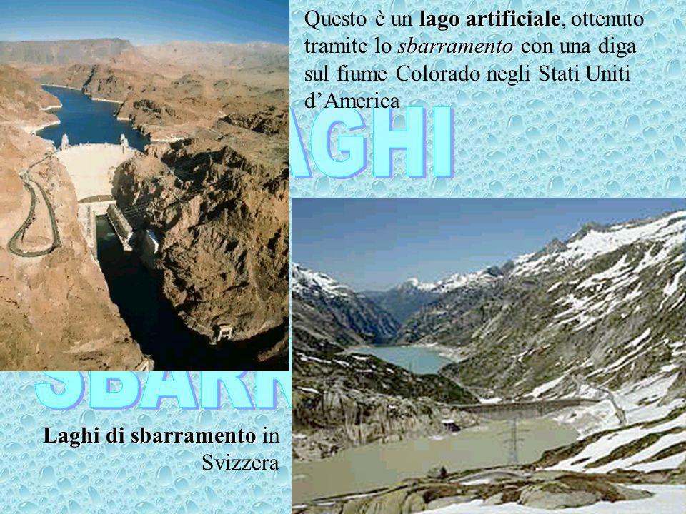 Questo è un lago artificiale, ottenuto tramite lo sbarramento con una diga sul fiume Colorado negli Stati Uniti d'America