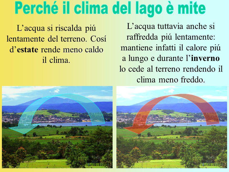 Perché il clima del lago è mite
