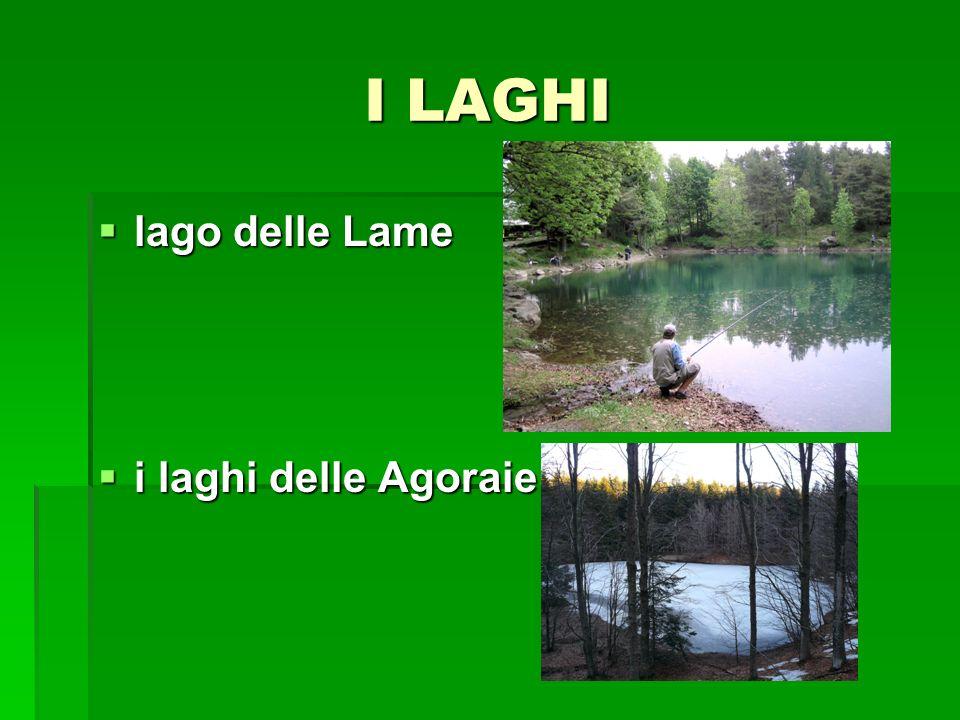 I LAGHI lago delle Lame i laghi delle Agoraie
